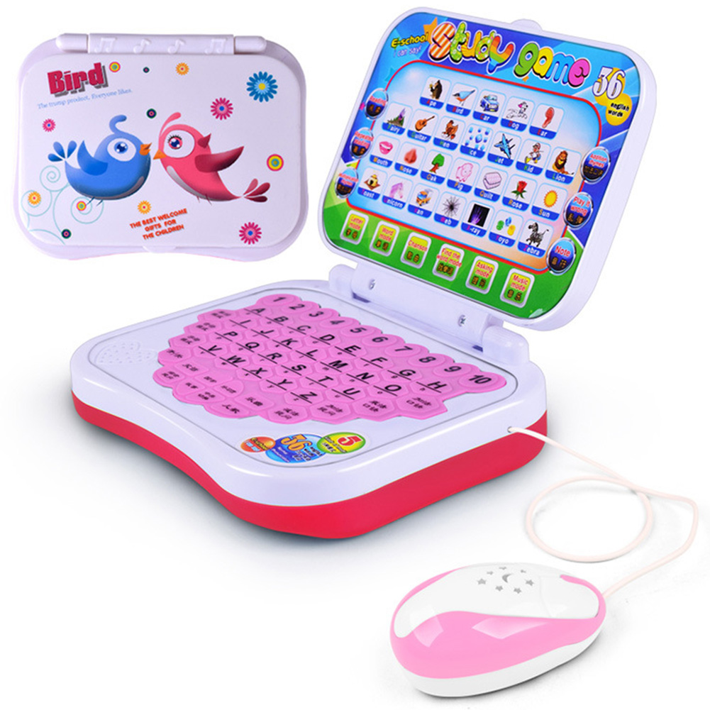 Alphabet Music Toys Computer PC Learning Machine Kids Toddler Baby Fun Gift Children Educational Pre School Electronic Notebook