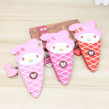 Katuner Fashion Cartoon Hello Kitty Wallet Kids Girls Coin Purse Ice Cream Shaped Cute My Melody Women Coin Bag Monedero KB095(China)