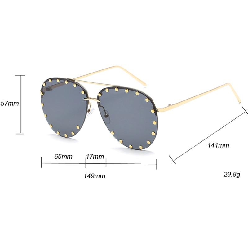 f1ee680a5f Emosnia lentes rojas gafas de sol piloto mujeres hombres gafas de sol  remache marca transparente diseñador gafas de sol para damas montura de  Metal Oculos ...