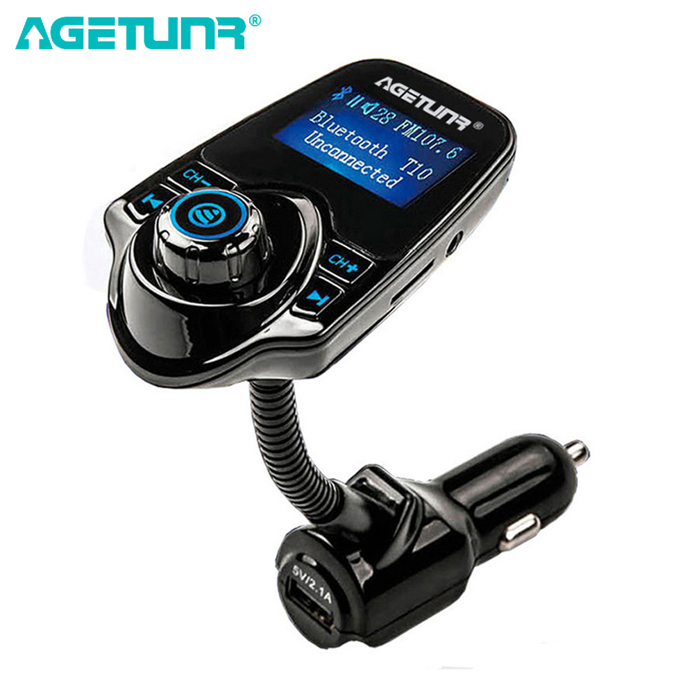 agetunr bluetooth car kit handsfree set fm transmitter. Black Bedroom Furniture Sets. Home Design Ideas