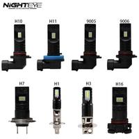 Nighteye H1 H3 H4 H7 H9 H10 H11 9005 9006 880 881 80/설정 800LM CSP 함께 LED 전구 6500 천개 화이트 안개 램프 DRL LED 조명