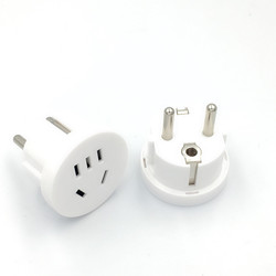 1pc AU US To EU China Plug Adapter Australian AU To Euro KR Power Adapter Travel Plug Converter Round AC Wall Charger Socket