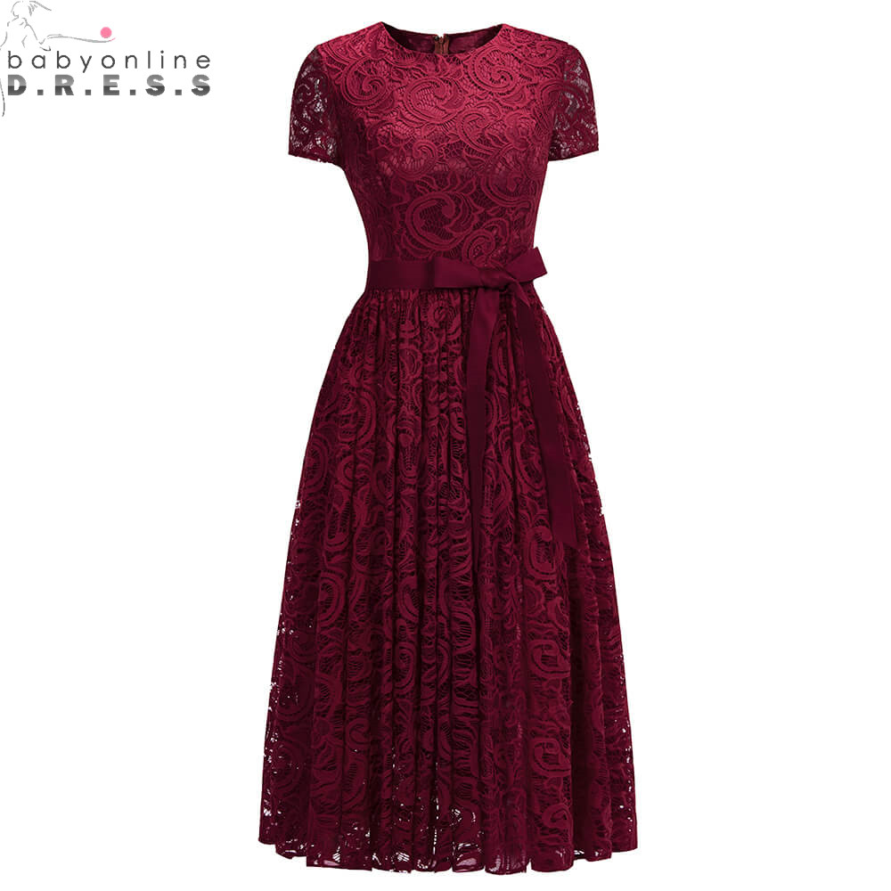 New Arrival Plus Size 26W Lace Short   Evening     Dress   2019 Short Sleeve   Evening   Party   Dresses   with Sashes Robe de Soiree Courte