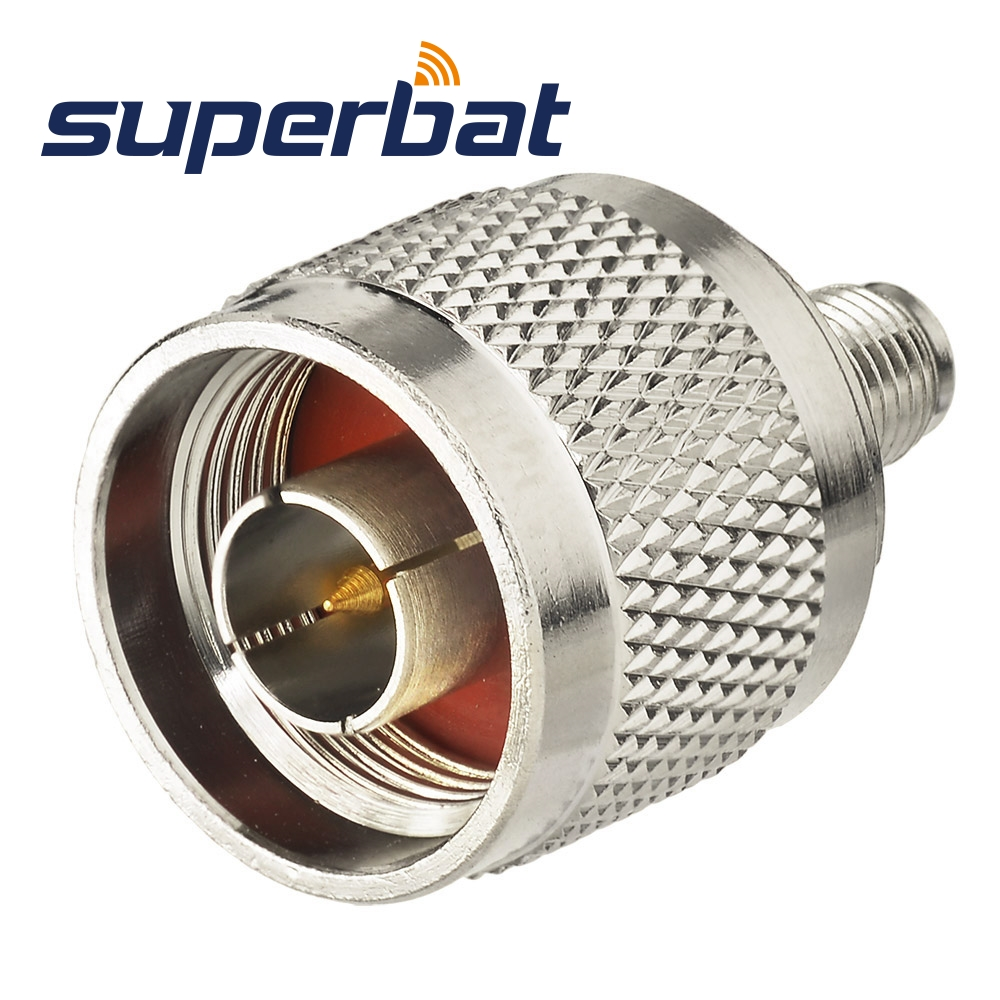Superbat SMA-N Adapter RP-SMA Female Jack(Male Pin) To N Male Plug Straight RF Coaxial Connector
