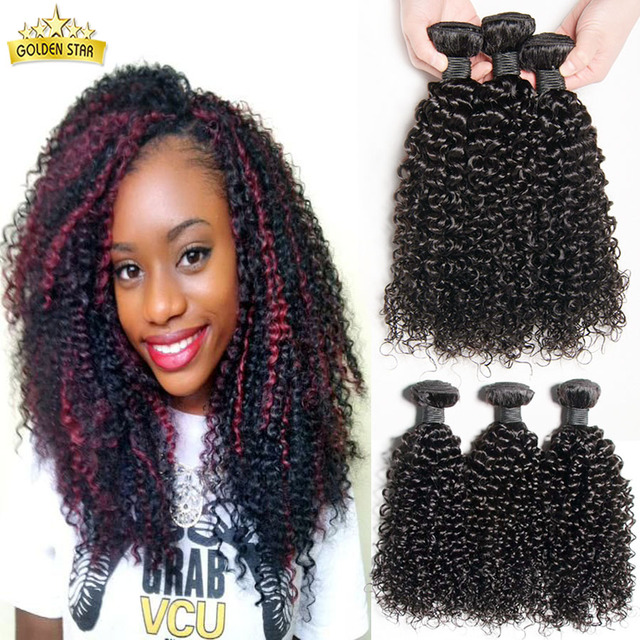 7a Malaysian Kinky Curly Hair Tissage Bresilienne Curly 4pcs