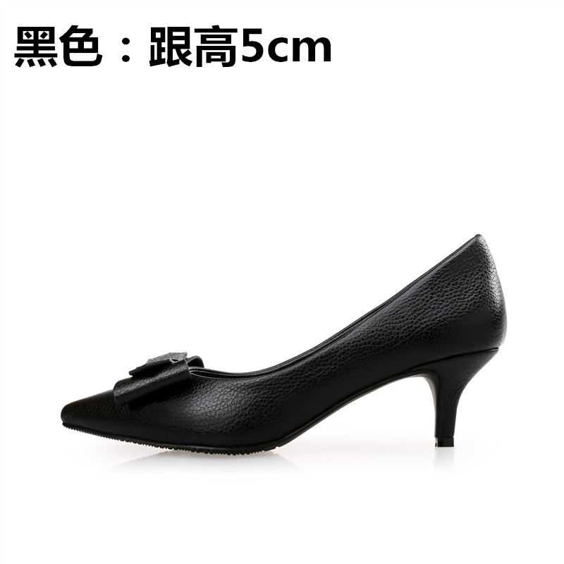 ФОТО 2017 spring thin high-heeled heels pointed toe small 31 32 33 single shoes female plus size 40 41 42 43 free shipping