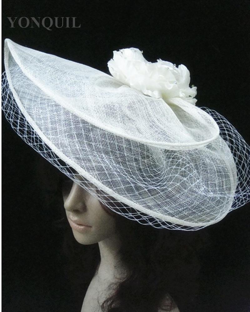 2018 vintage big derby royal sinamy fascinatos hat headbands flower headwear bridal hair accessories party wedding hats fs70-in hair accessories from