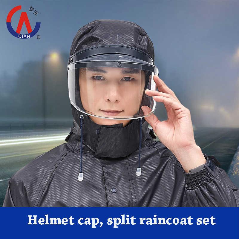 Дождевик для мотоциклиста, непромокаемый костюм для женщин/мужчин, шапка для шлема, байкерское пончо, мотоциклетная дождевик, походная одежда для рыбалки, дождевик