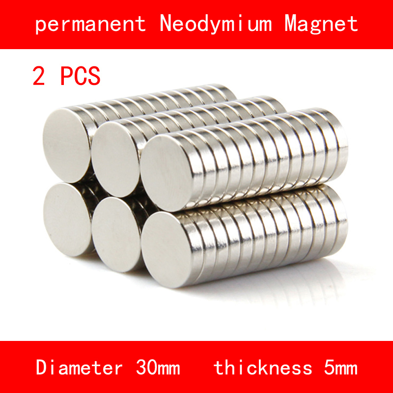2PCS round diameter 30mm thickness 5mm n35 Rare Earth strong NdFeB Neodymium Magnet for industrial DIY hot artist african style matching woman shoes and bag set new italian summer pumps shoe and bag set for wedding party g32