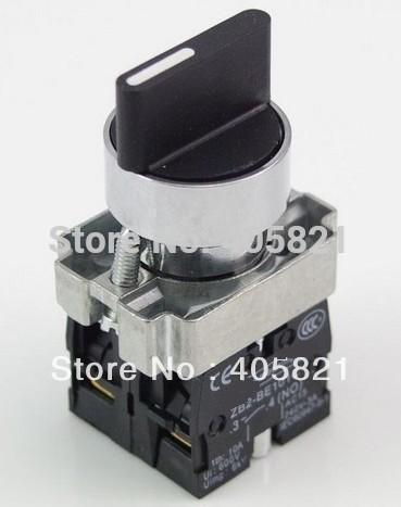 1N/O+1N/C Standard Handle 2 Position Maintained Select Selector Switch Mouting Hole 22mm
