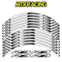 MTKRACING for YAMAHA YZF R3 motorcycle wheel decals Reflective stickers rim stripes YZF R3 motorbike R3 3COLOR