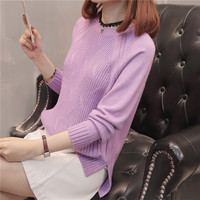 49 (zhong 4 4) women's autumn Round neck raglan sleeves knit shirt sleeve F3029 render unlined upper garment