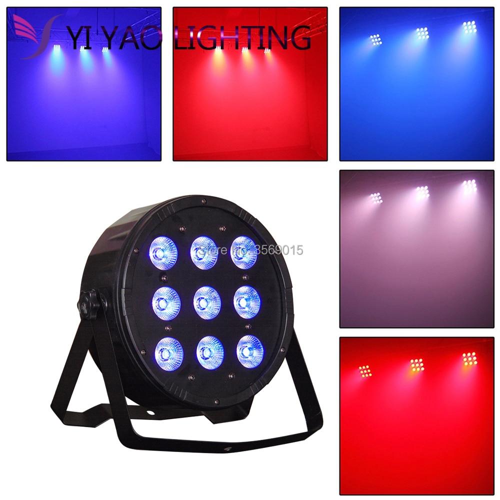 LED Flat Par 9x 12W RGBW DMX Stage Lights Light with Professional DJLED Flat Par 9x 12W RGBW DMX Stage Lights Light with Professional DJ