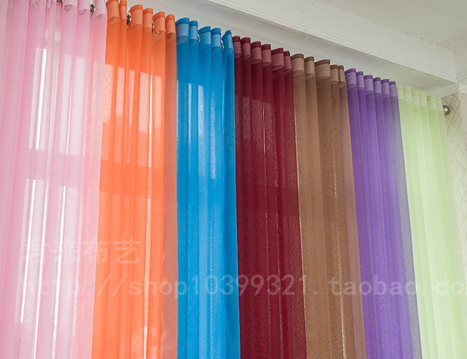 Cortinas transparentes para ventanas de la sala tul Curtainas para