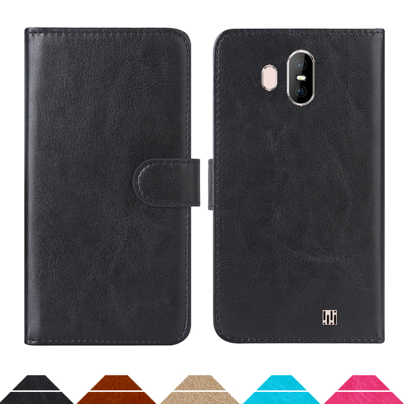Luxury Wallet Case For <font><b>HomTom</b></font> <font><b>S17</b></font> PU Leather Retro Flip Cover Magnetic Fashion Cases Strap image