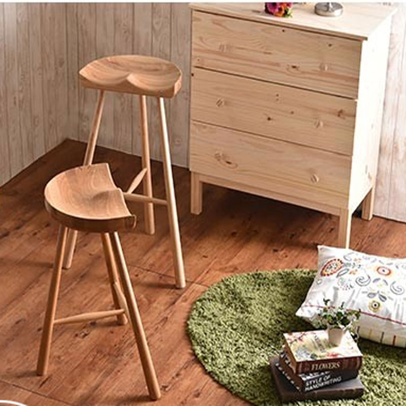 New 100 Wooden Bar Stool Commercial Furniture Pastoral