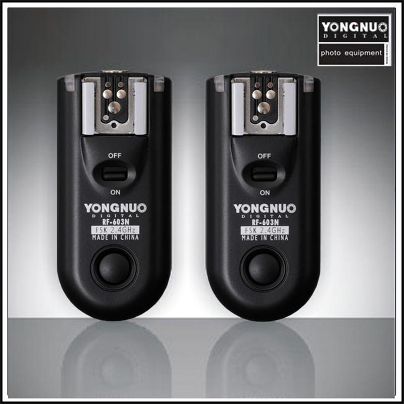 Yongnuo RF-603 Wireless Flash Trigger Speedlite Synchronized Shutter Release Remote Control Transceiver for Nikon D70 D70S D80 wired remote shutter release for nikon d80 d70s 98cm length