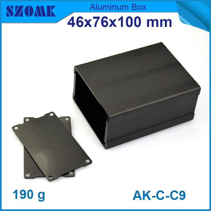 1 piece Electronic project box case aluminum pcb enclosure diy aluminium cabinet junction housing case for pcb broad 46*76*100mm 1pc mayitr waterproof junction box dustproof abs distribution box housing diy electric enclosure case 6 ports for electronics