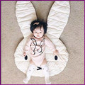 New Lovely Rabbit Throw Crawling Blanket Carpet Floor Play Mats Children Room Decoration Play Rugs Creeping Mat Size 106*68CM