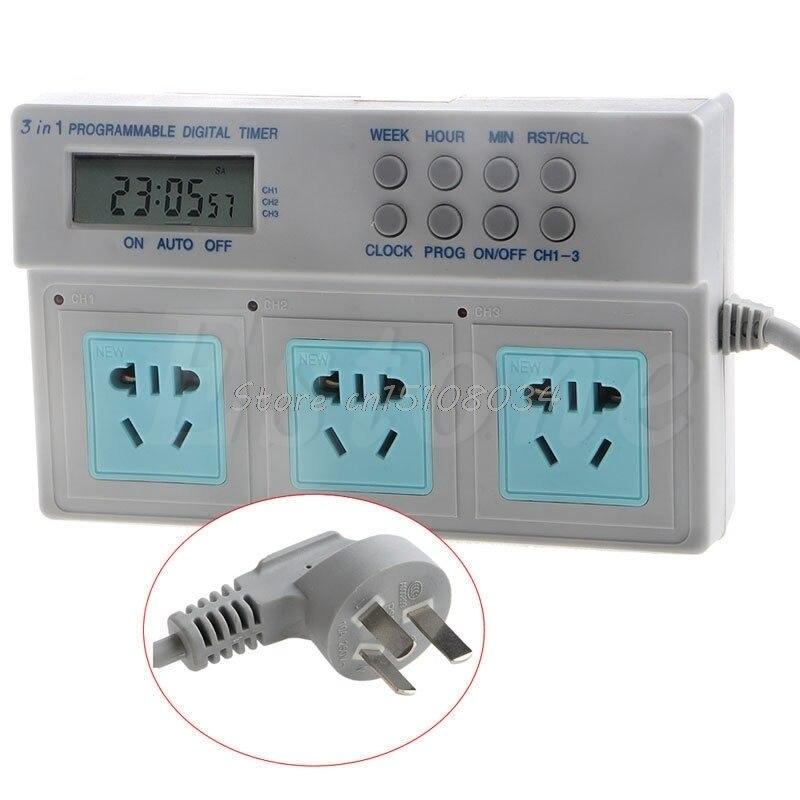 AU Plug Highpower Microcomputer Control 3in1 Programmable Digital Timer Socket S08 Drop ship цена