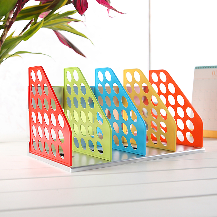 цена Mirui candy color Document Trays Desk Organizer Office Shelves Filing Trays A4 Holder Racks File Plastic