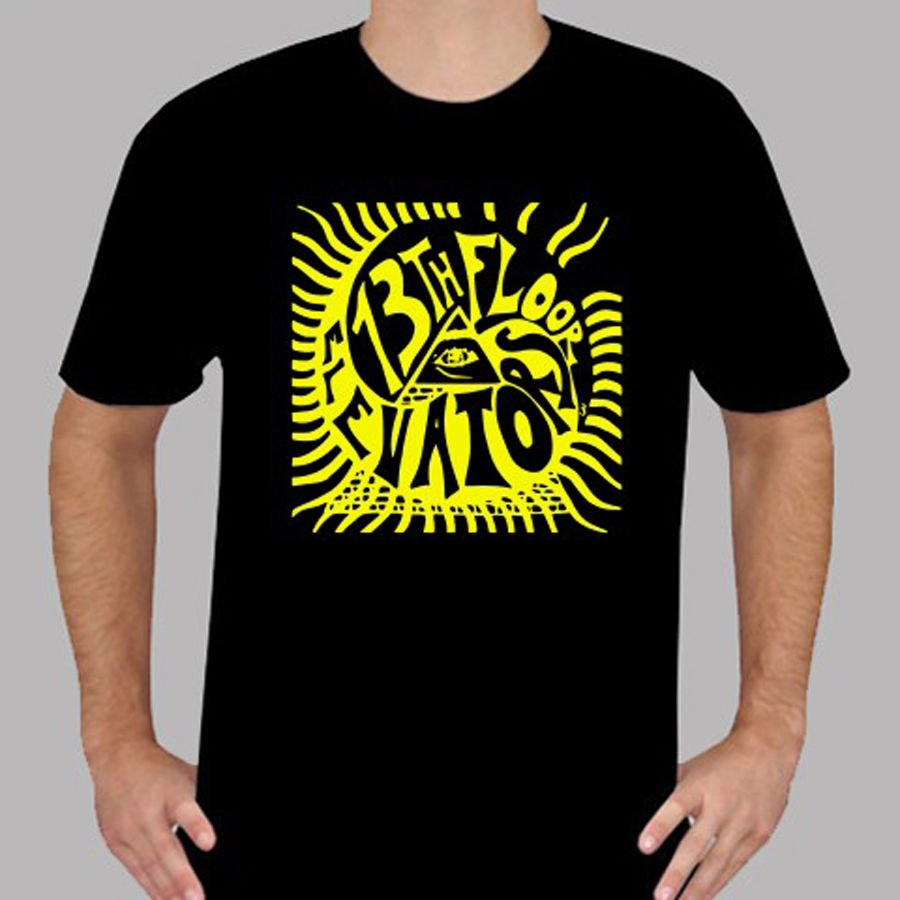 Cotton Shirts The 13th Floor Elevators Rock Band Legend Mens Black T-Shirt Size S to 3XLNew Brand Casual Clothing