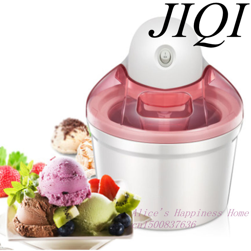 EDTID Ice cream machine household automatic children fruit ice cream ice cream machine barrel cone machine edtid portable automatic ice maker household bullet round ice make machine for family small bar coffee shop 220 240v 120w eu us