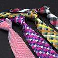 2016 Classic Para Hombre Corbatas de Seda Corbatas Corbatas 8.5 cm Tela Escocesa y Descubre para Los Hombres Ropa Formal Traje de Negocios Del Banquete de Boda Gravatas con marca