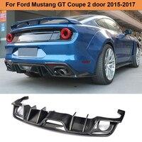 Для Mustang углеродного волокна задний бампер диффузор спойлер для Ford Mustang для автомобиля с откидным верхом 2 двери только 2015 2017 США рынок