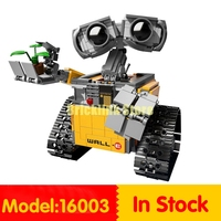 Lepin 16003 687pcs Genuine Idea Robot WALL Educational Building Set Kits Bricks Blocks Bringuedos Compatitable Toys