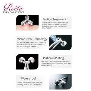 Image 2 - ReFa KARAT GESICHT Walze Massager Micro strom Kneten Massage Bewegung Behandlung Platin Überzug Wasserdicht Gesicht Heben