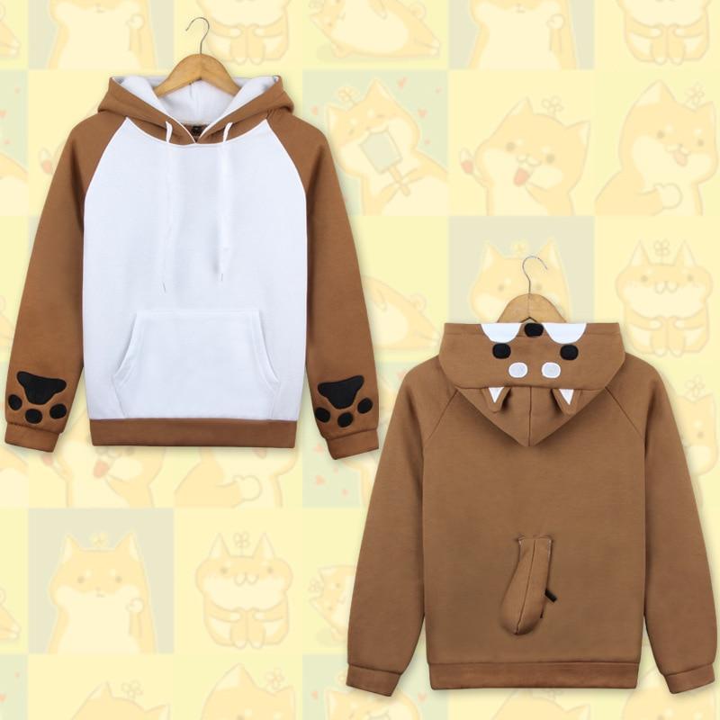 Anime Lovely Muco Shiba Inu Hooded Hoodie Cosplay Costume Cute Dog Daily Casual Jacket Sweatshirt