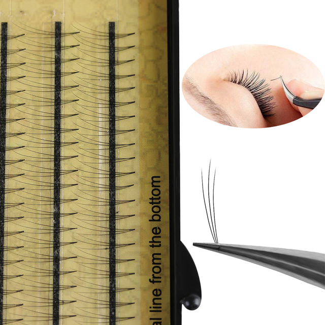 120 Pcs/Set  3D Black0.07 C Wave 8~14mm Mink Hair Individual False Eyelashes Faux Natural Long Fake Eye Lashes Extension Tools False Eyelashes