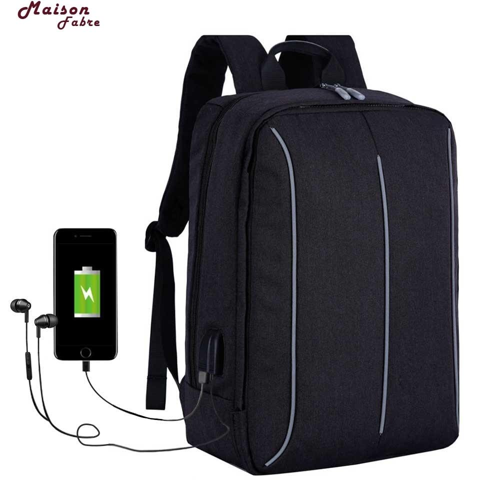 Maison Fabre Backpack Usb Charger USB Mens Backpack Bag Men Waterproof Back Pack School Backpack ...