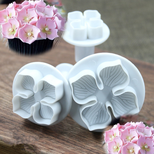 Flower Plunger Cutter Molds Cake Cookie utensil set