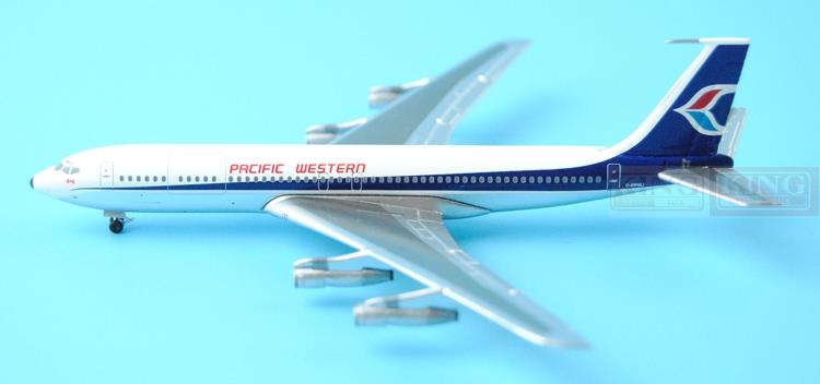 Pacific Western B707 C-FPWJ 1:400 Aeroclassics commercial jetliners plane model hobby new phoenix 11207 b777 300er pk gii 1 400 skyteam aviation indonesia commercial jetliners plane model hobby