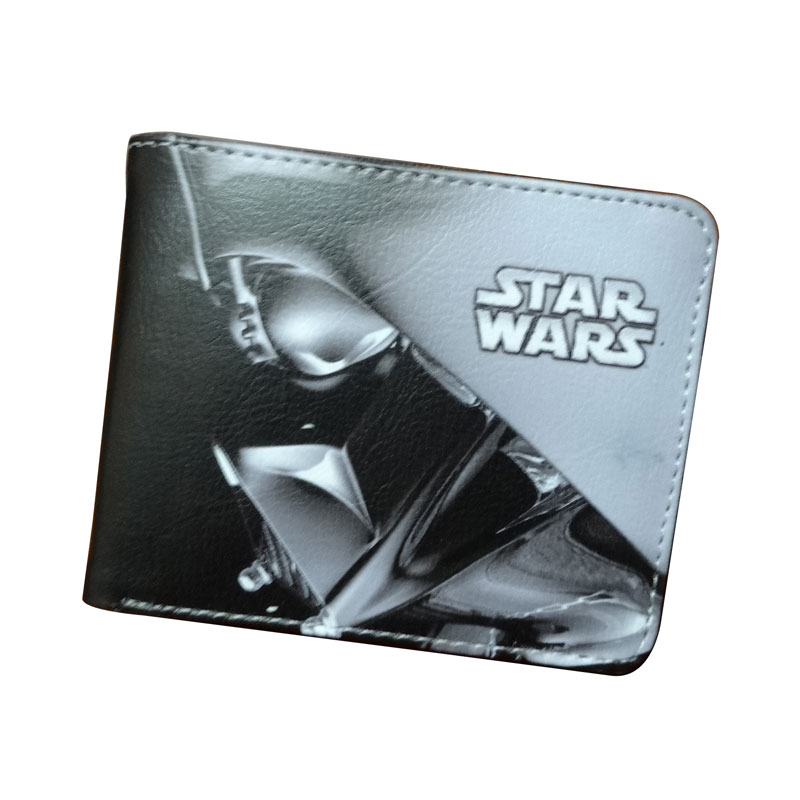 Star Wars Wallets High Quality Leather Short Purse Black Wallet Movie Star War Comics Teenager Gift Dollar Bags With Coin Pocket