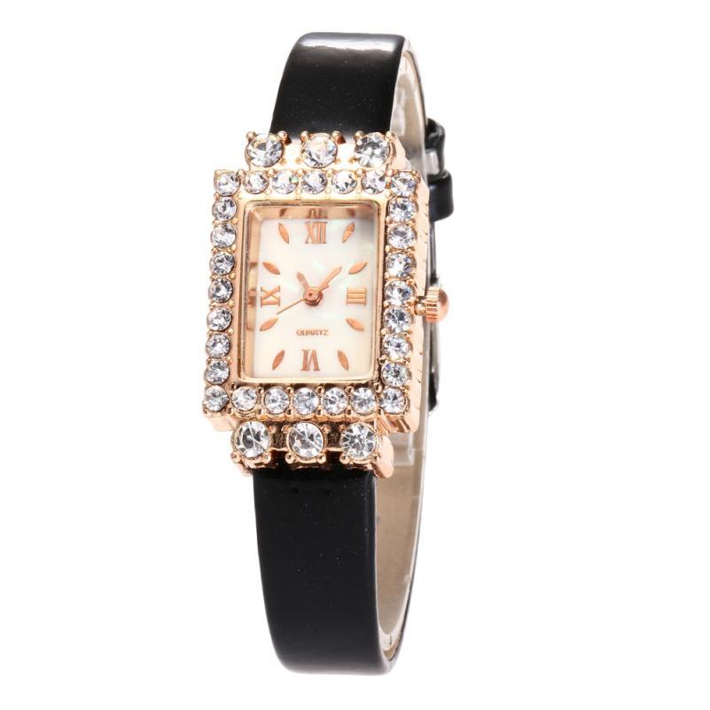 Moment # L05 2018 New Fashion Women Buckle Beautiful PU Leather Casual Watch Luxury Alloy Analog Quartz Watch No waterproof