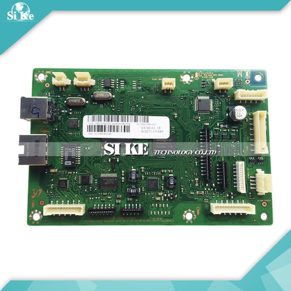 Laser Printer Main Board For Samsung SL-M2675FN SL M2675FN 2675FN 2675 2675F Formatter Board Mainboard Logic Board laser printer main board for samsung scx 4100 scx 4100 scx4100 formatter board mainboard logic board