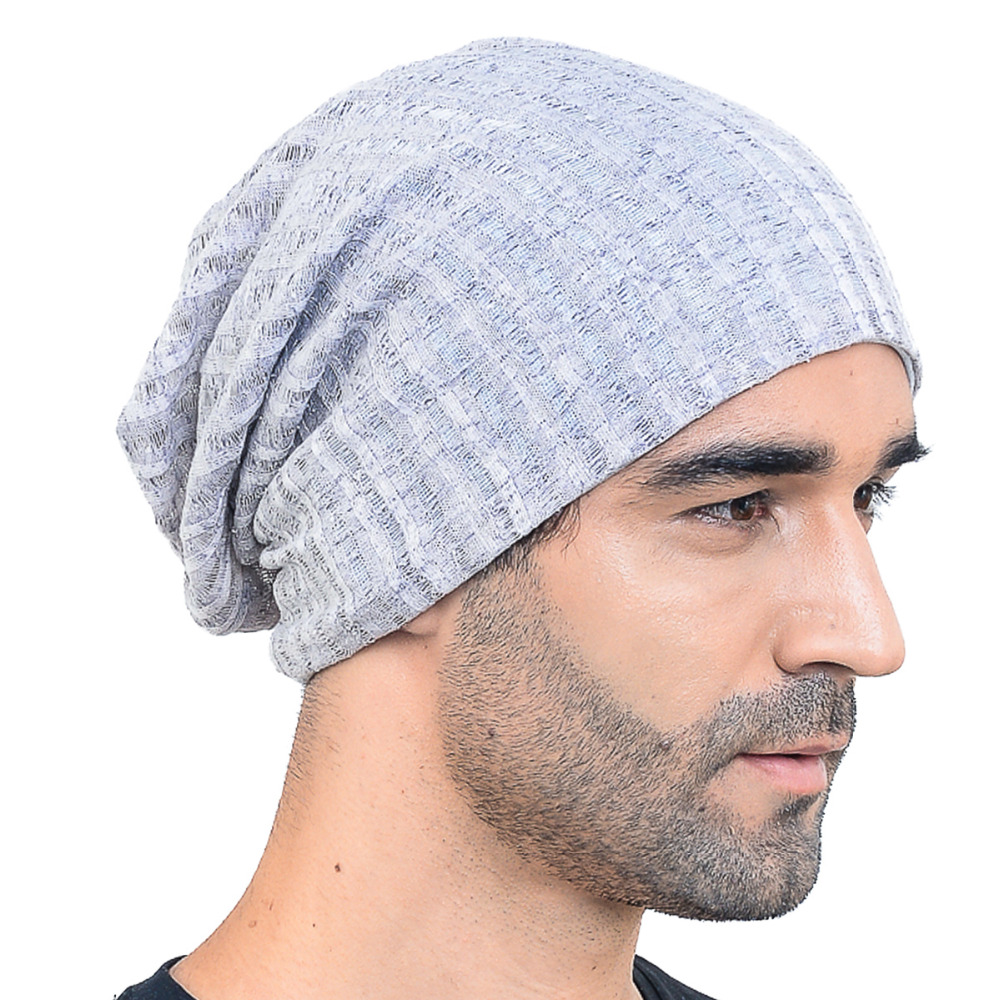 a6f1b7ad54a HISSHE Mens Jersey Slouch Beanie Cap Hollow Cool SkullCap Beanie For Men  Women Large Thin Summer Outdoor Hat-in Skullies   Beanies from Apparel  Accessories ...