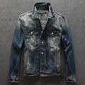2016 Autumn spring New Denim Jacket Men Fashion Retro Jeans Men's Denim Jacket Mens Coat