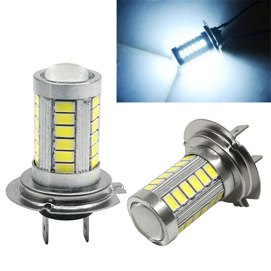 h7 dc12v led 5630 33smd car auto led fog lights bulbs super bright. Black Bedroom Furniture Sets. Home Design Ideas