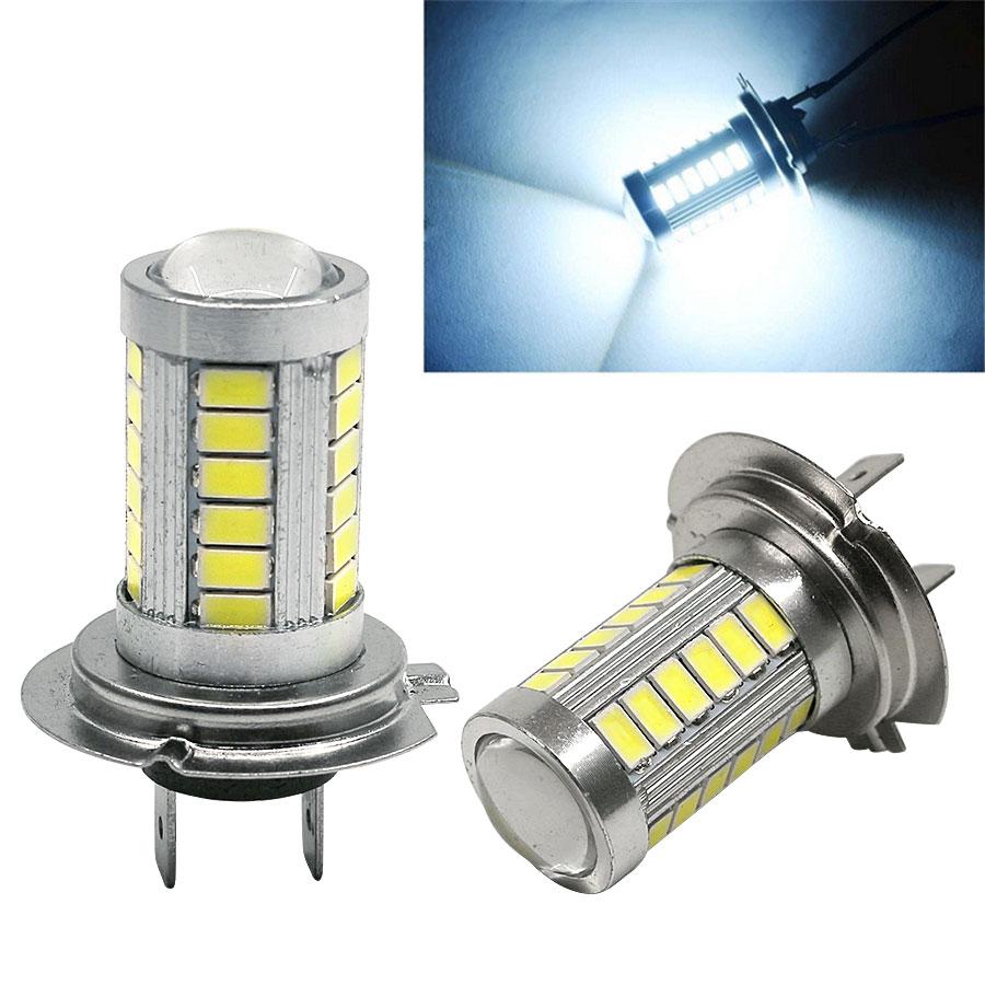 2pcs H7 Dc12v Led 5630 33smd Car Auto Led Fog Lights Bulbs