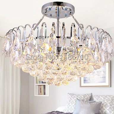 Modern crystal chandelier fashion luxury droplight sitting room bedroom chandeliers free shipping