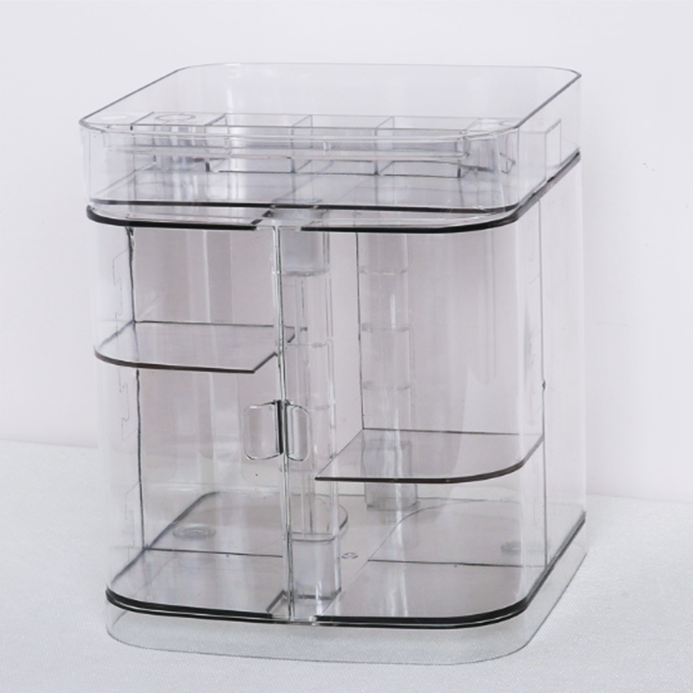 Image 4 - Hoomall New Clear Acrylic Makeup Storage Case Nail Polish Rack Lipstick Cosmetic Storage box Holder Makeup Brush Organizer-in Storage Boxes & Bins from Home & Garden