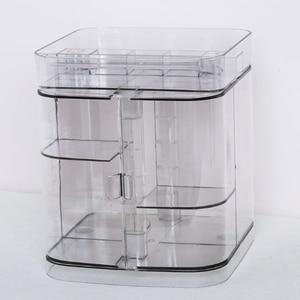 Image 4 - Hoomall ใหม่อะคริลิคใสแต่งหน้าเล็บ Rack ลิปสติกเครื่องสำอางค์ผู้ถือกล่องแปรงแต่งหน้า