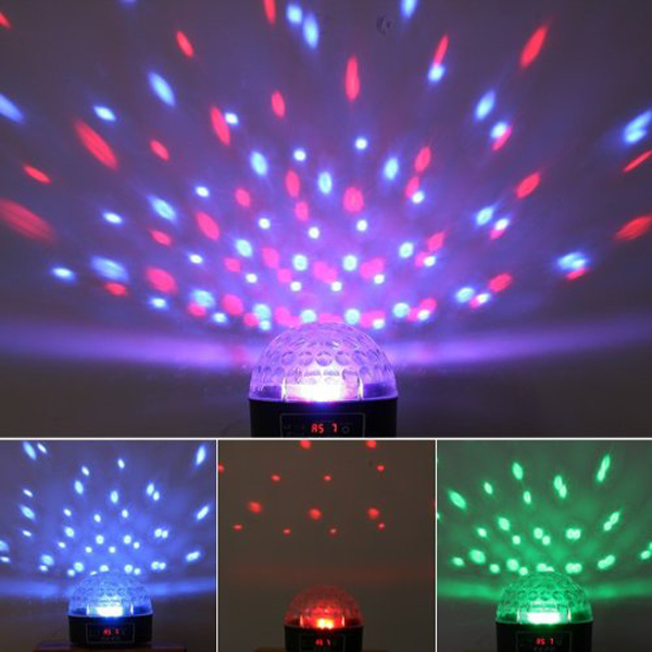 LED Mini Disco Stage Effect Light RGB Crystal Dot Lamp Ball for Holiday Wedding Party Atmosphere