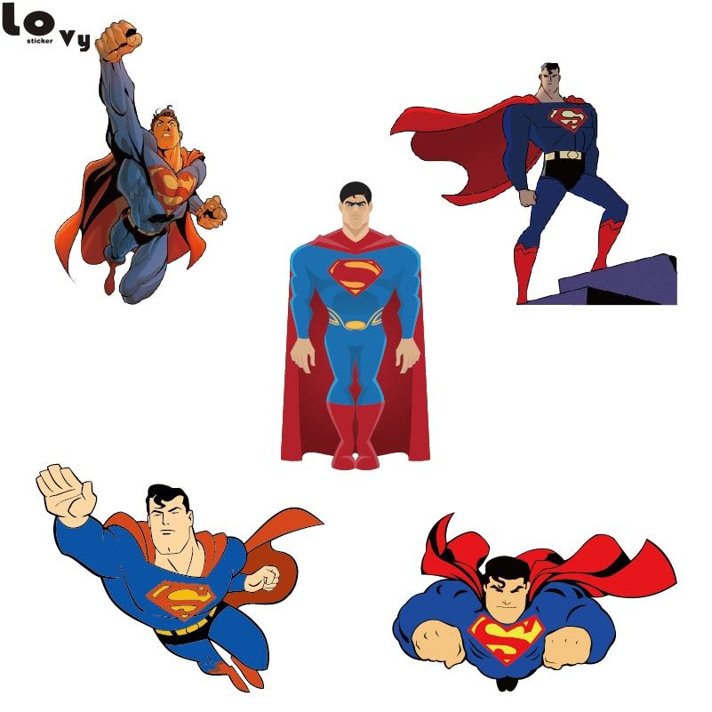 Cartoon Superman Wall Sticker Creative Printed Superman Vinyl Wall Decal  For Kids Room Nursery Home Rooms