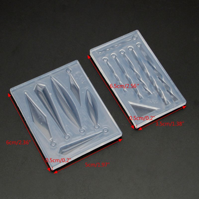 DIY Jewelry Accessories Epoxy Resin Molds Earring Necklace Bar Pendant Silicone Mold Jewelry Tools