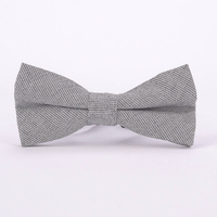 Stylish Cotton Bow Tie Fashion Lovely Solid Gray Personality Butterfly Men Bowties For Party 30